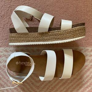 White Strap Platform Sandal